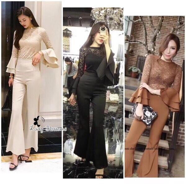 เสื้อผ้าเกาหลี พร้อมส่ง ชุด Set 2 ชิ้น เสื้อ+กางเกง
