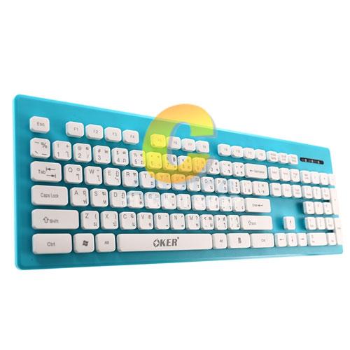 Keyboard OKER (KB-188) Blue