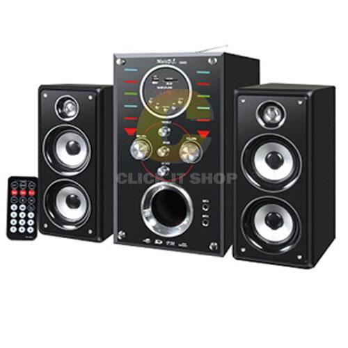 ลำโพง MUSIC DJ D-8500 + FM,USB Black