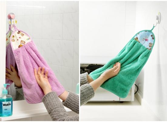 ผ้าขนหนูเนื้อหนานุ่ม ดูดซับน้ำได้ดี สำหรับแขวนเช็ดมือ