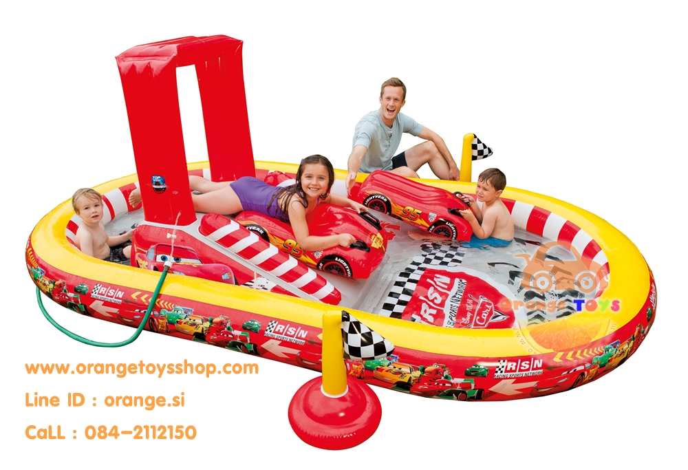สวนน้ำ Play Center สระน้าสวนสนุกเป่าลม ลายคาร์ (Car) สำหรับเด็ก ขนาดใหญ่ 3.5 เมตร **57134**