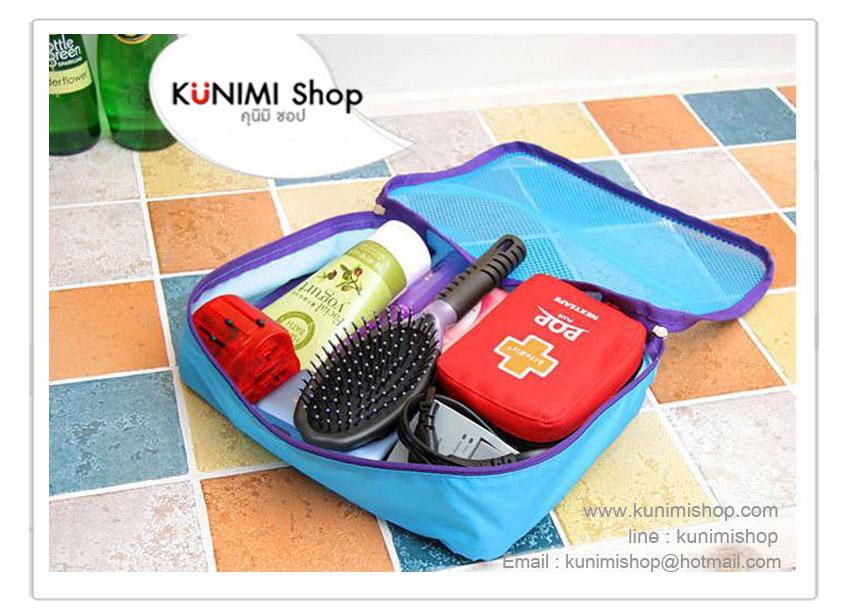 กระเป๋าจัดเก็บเสื้อผ้า จัดระเบียบกระเป๋าเดินทาง สะดวกในการหยิบใช้งาน งานเย็บอย่างดี เนื้อผ้าหนา คุณภาพดี ยี่ห้อ Diniwell 1 เซ็ต มี 3 ชิ้น (3ขนาด) (26x20x7 ซม.) , (30x23x10 ซม.) , (36x27x10 ซม.)