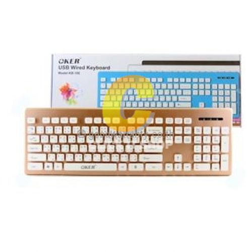 Keyboard OKER (KB-188) Gold