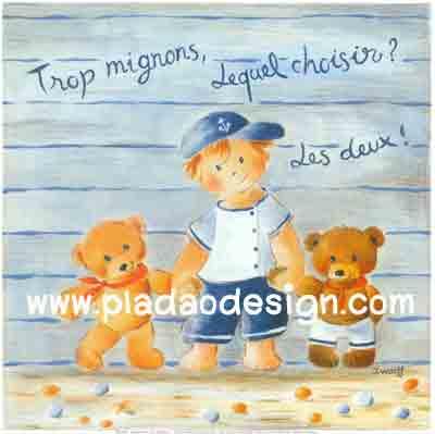 กระดาษสาพิมพ์ลาย rice paper เป็น กระดาษสา ที่ใช้ สำหรับทำงานฝีมือ เดคูพาจ Decoupage แนวภาพ พี่หนุ่มน้อยแร๊ปเปอร์จูงมือ 2 น้องหมี เท็ดดี้ แบร์ Teddy Bearไปแต่งตัวไปเที่ยว (pladao design)