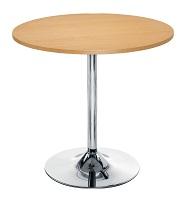 โต๊ะกลมร้านกาแฟ ขาแชมเปญชุบโครเมี่ยม