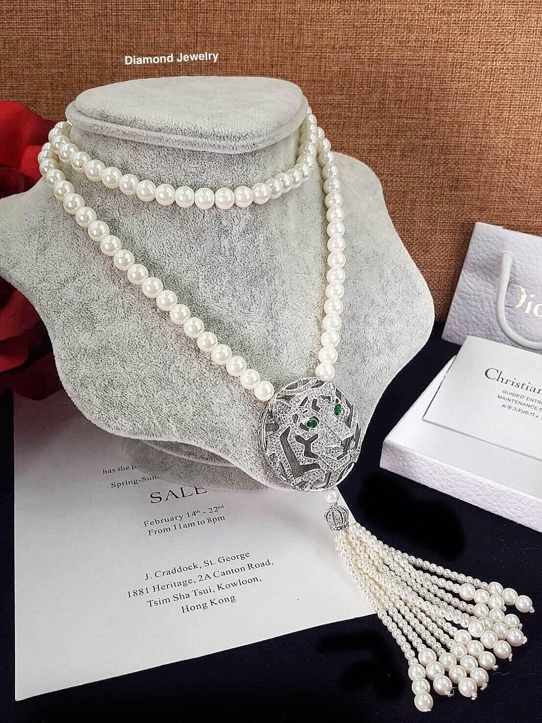 พร้อมส่ง Pearl Necklace สร้อยมุกเกรดพรีเมียม