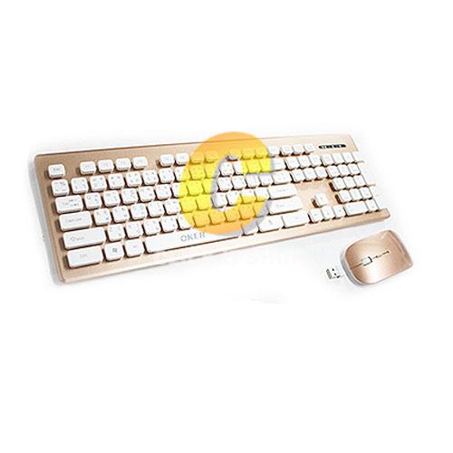 Keyboard Wireless OKER (T26) Gold