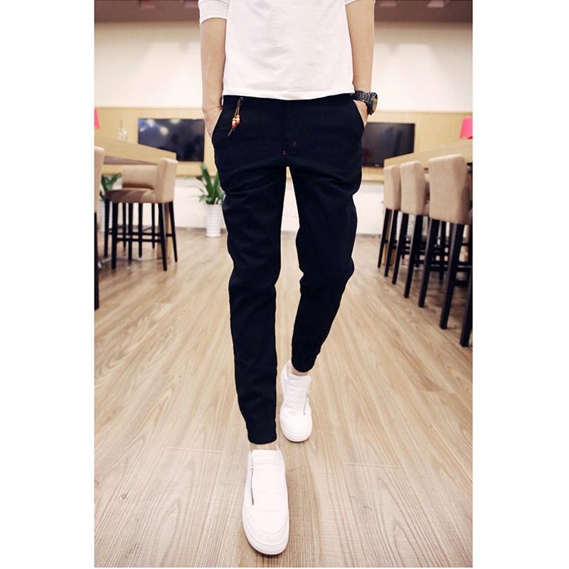 กางเกงขายาวแฟชั่น ทรงJOGGER สีดำ รุ่น KOMA LP0015