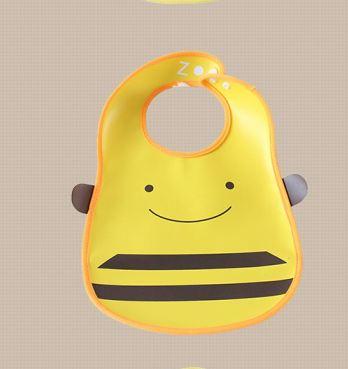 ผ้ากันเปื้อนเด็กพิมพ์ลายการ์ตูนน่ารัก รูปผึ้ง