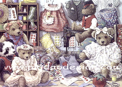 กระดาษสาพิมพ์ลาย rice paper เป็น กระดาษสา สำหรับทำงาน เดคูพาจ Decoupage แนวภาพ หมีหนุ่ม หมีสาว เท็ดดี้ แบร์ teddy bear มา fitting เสื้อผ้าเตรียมใส่เล่นละคร (pladao design)