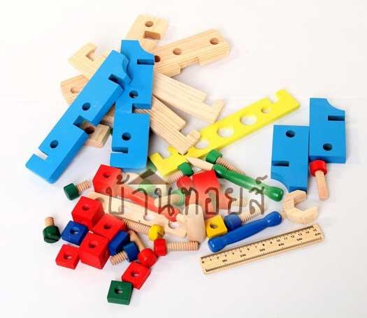 ของเล่นเสริมพัฒนาการของเล่นไม้โต๊ะเครื่องมือช่าง