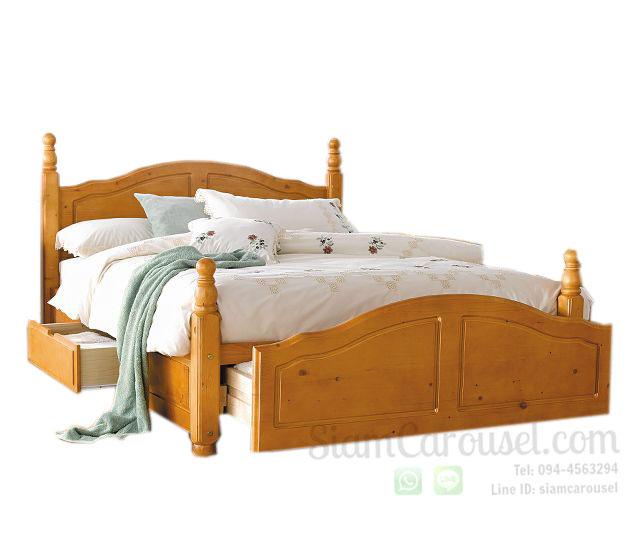 เตียงนอนคู่ Queen Size Size : 5 x 6.5 ฟุต
