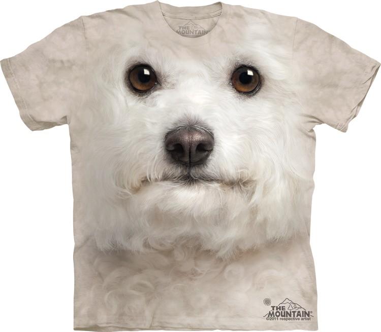 Pre.เสื้อยืดพิมพ์ลาย3D The Mountain T-shirt : Bichon Frise Face