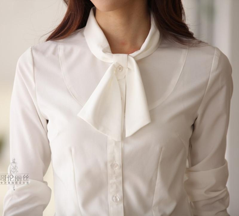 Pre-order เสื้อเชิ้ตแขนยาว เข้ารูป ผ้าชีฟอง สีขาว