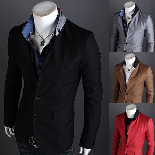 Pre-Order เสื้อสูท สูทลำลอง สูทบาง สูทเบลเซอร์ลำลอง แขนยาว ผ้าฝ้ายผสม สีดำ