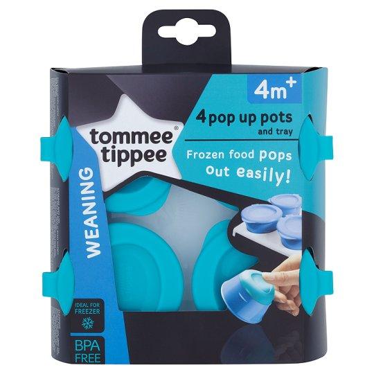 tommee tippee ถ้วยก้นสิลิโคนสำหรับเก็บอาหารมาพร้อมถาด4หลุม BPA free