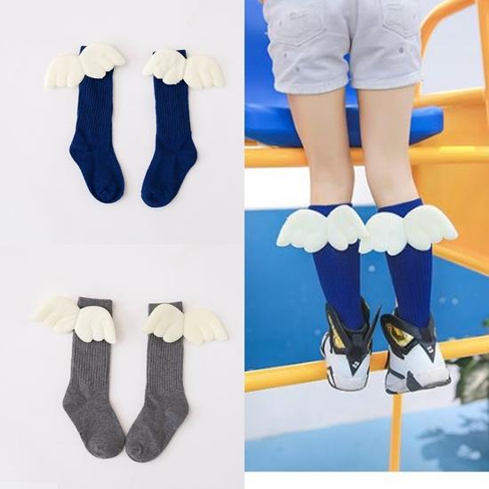 ถุงเท้าเด็กแบบยาวติดปีกนางฟ้า