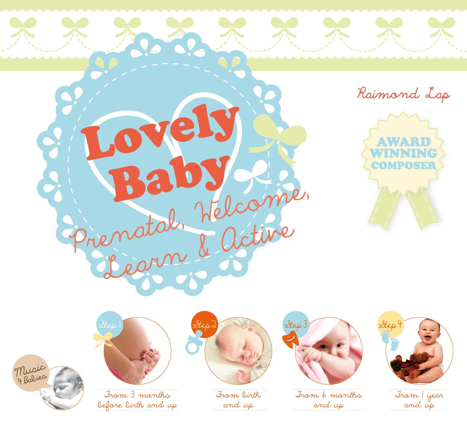 เพลงเด็ก CD Set 4 แผ่น เสริมพัฒนาการ 4 Step Prenatal, Welcome, Learn and Active