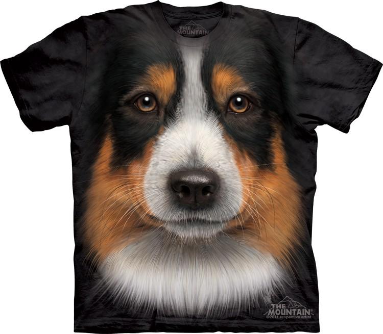 Pre.เสื้อยืด 3D ลายรูปหน้าสัตว์ The Mountain T-shirt : Alaskan Malamute Face