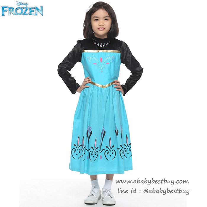 """"""" ชุดเดรส เจ้าหญิงเอลซ่า ชุดแฟนซีเจ้าหญิง Frozen ชุดแฟนซีเจ้าหญิง ผ้าดี ใส่สบาย (สำหรับเด็กอายุ 3-10 ปี)"""