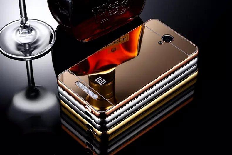 เคส Xiaomi Redmi Note2 - เคสขอบโลหะ ฝาหลังPC เคลือบอะคลิลิคเงา โคตรหรูCase [Pre-Order]