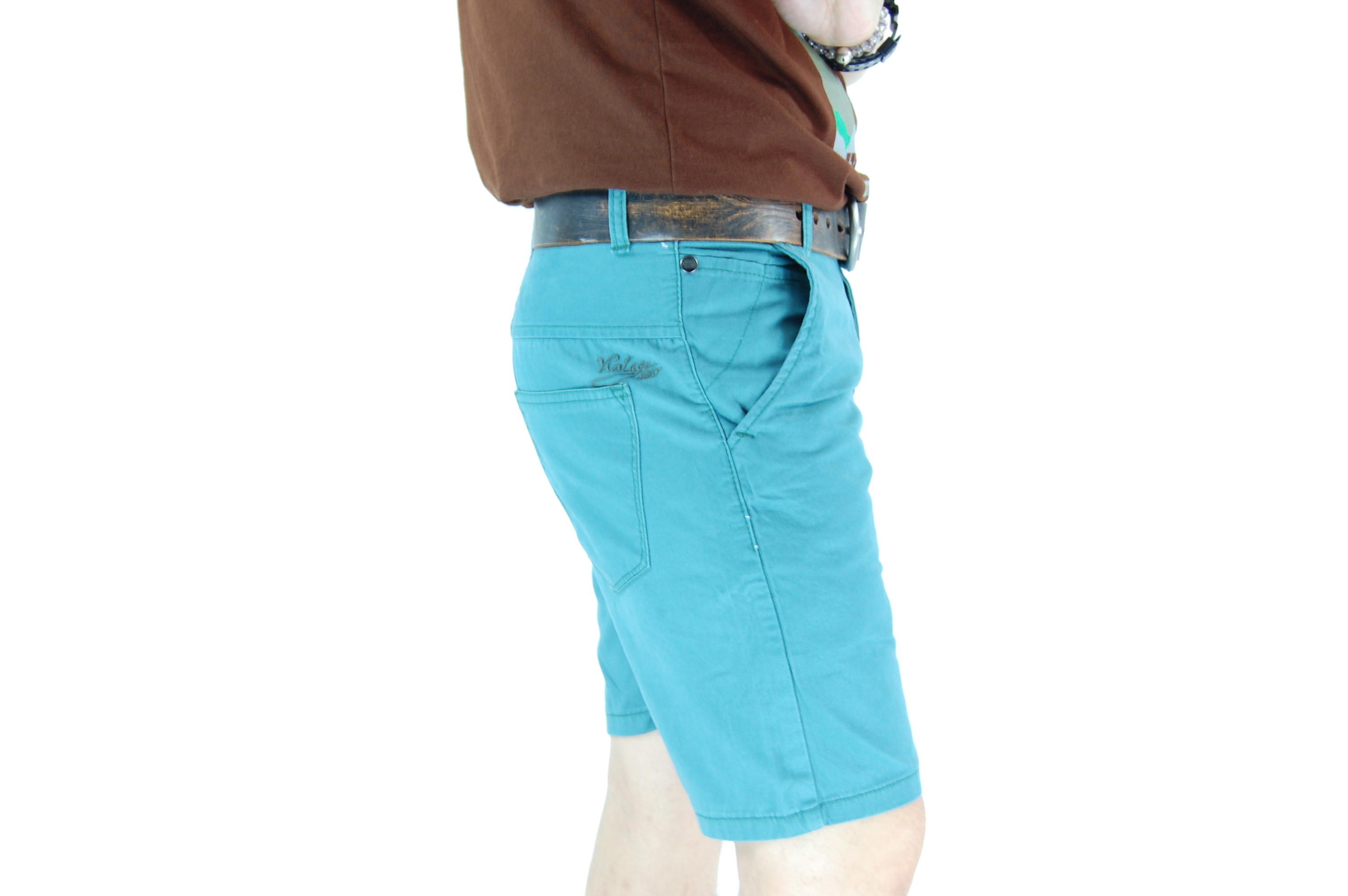 กางเกงขาสั้น สีฟ้ามน 29-6--4