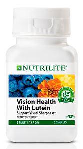 Nutrilite Vision Health With Lutein วิตามินบำรุงสายตา ป้องกันการเกิดต้อกระจก ลดความเสี่ยงจอประสาทตาเสื่อม Amway USA