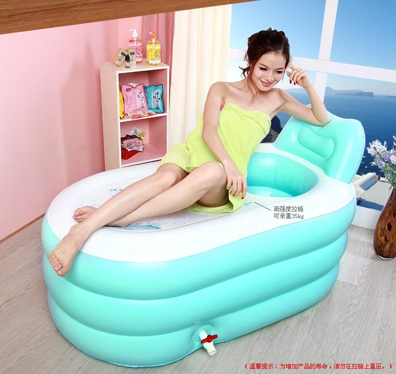 อ่างอาบน้ำเป่าลม ทรงรี (New Design 2014)