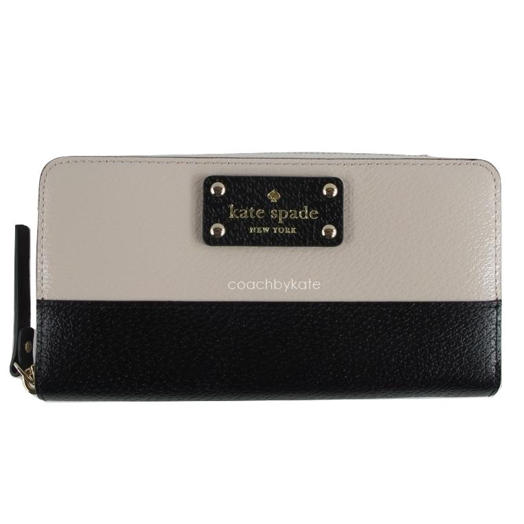 สินค้าพร้อมส่งจาก USA » กระเป๋าสตางค์ Kate Spade wlru1153 neda wellesley pbble blck293 leather wallet