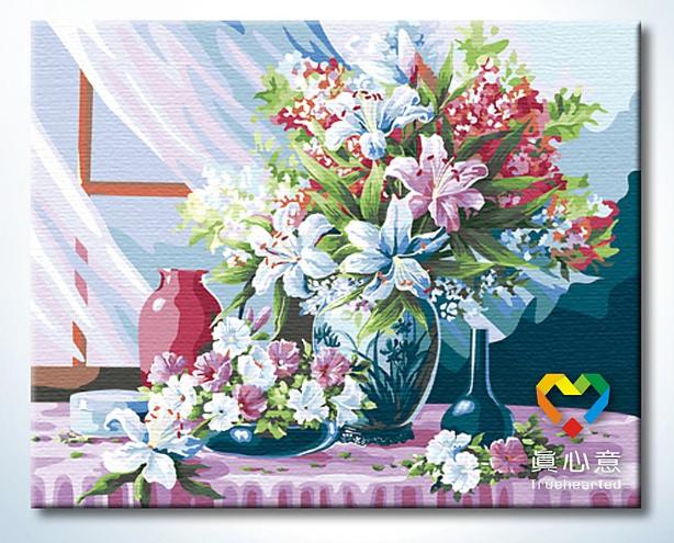รหัส HB4050169 ภาพระบายสีตามตัวเลข Paint by Number แบบ Good morning ขนาด40x50cm/พร้อมส่ง