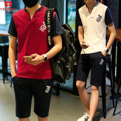 ชุดวอร์มเกาหลี VOGUE SPORT เสื้อโปโลแขนสั้น+กางเกงขาสั้น มี3สี