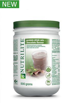 NUTRILITE™ Protein Drink Mix Chocolate Flavour (500g) โปรตีนรสช๊อกโกแลต ไม่มีขายในไทย ทานง่าย หอมอร่อย!