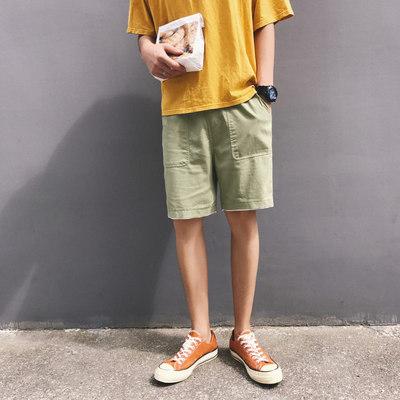 กางเกงขาสั้นเกาหลี แต่งกระเป๋าด้านข้าง มี4สี