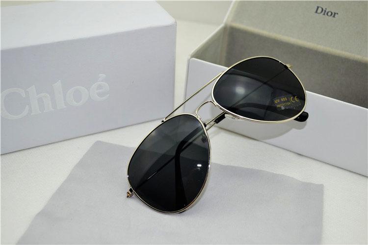 Pre Order แว่นตากันแดดแฟชั่น สีสะท้อนแสง ใส่ได้ทั้งชาย-หญิง สีดำกรอบเงิน