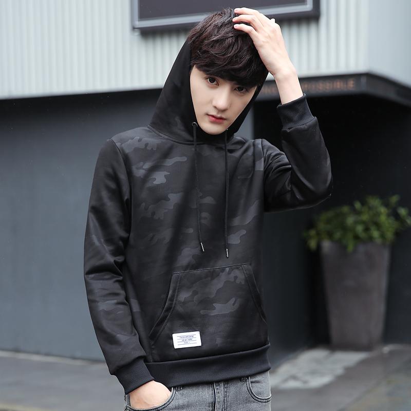 Pre Order เสื้อกันหนาวแขนยาว มีฮู้ด ลายพราง ดีไซส์ทันสมัย สไตล์เกาหลี มี6สี