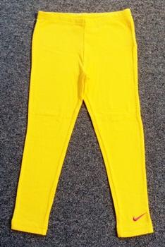 GP-084 (6Y) กางเกงเลคกิ้ง Nike สีเหลือง ปักแบรนด์ Nike สีชมพู