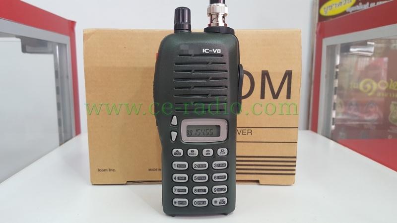 IC-V8 เครื่องดำ VHF 136-174 MHz.