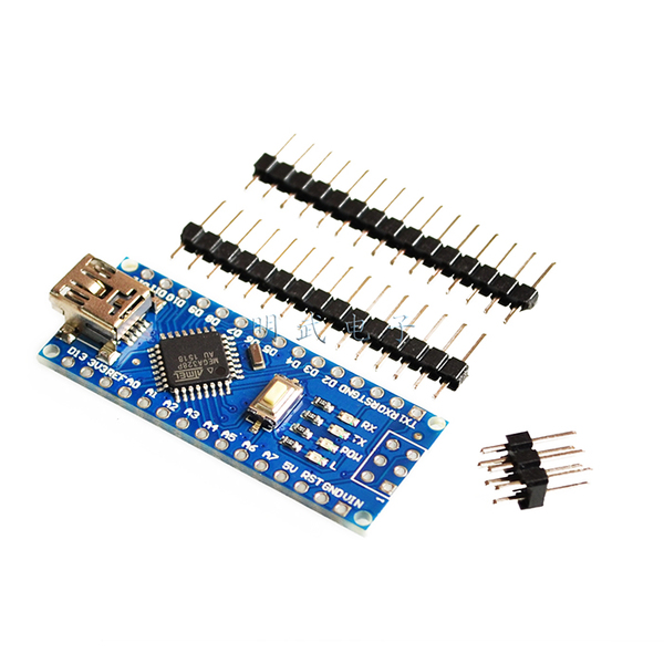 Nano V3 ATMega328P ยังไม่บัคกรี (ไม่มีคำว่า Nano บน PCB) + Free mini USB Cable