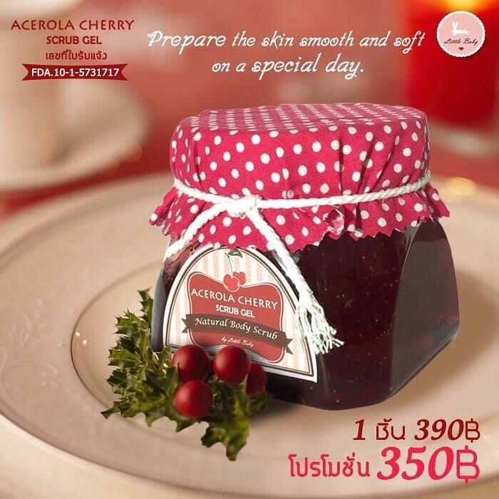 สครับผิวขาว Acerola Cherry Scrub Gel ลิตเติ้ล เบบี้ อเซโรล่า เชอร์รี่ สครับ เจล