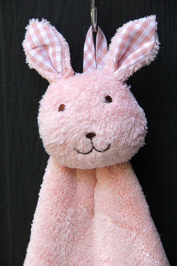 Lovely Rabbit Hand Towel (Pink)