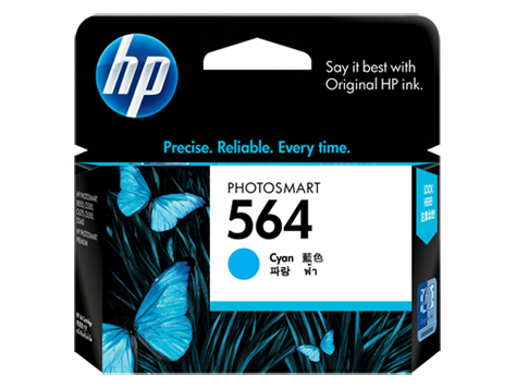 HP 564 ตลับหมึกอิงค์เจ็ท สีฟ้า Cyan Original Ink Cartridge (CB318WA)
