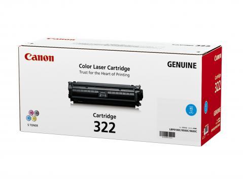 Canon Cartridge-322C ตลับหมึกโทนเนอร์ สีฟ้า Cyan Original Toner Cartridge