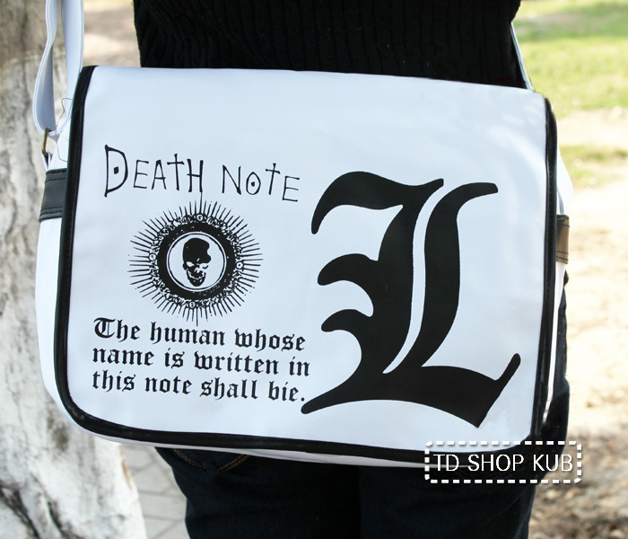 กระเป๋าสะพายไหล่ Death Note(สีขาว)