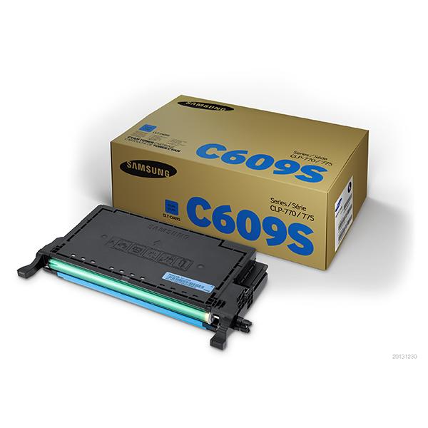 Samsung CLT-C609S ตลับหมึกโทนเนอร์ สีฟ้า ของแท้ Cyan Original Toner Cartridge (SU090A)