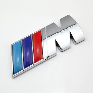 สติ๊กเกอร์ติดรถ LOGO BMW งานโลหะ 3x8.5cm/1ชิ้น