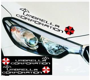 สติ๊กเกอร์ Umbrella Corporation ตัวอักษรดำ (31x6 CM) แพ็คคู่