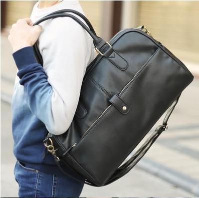 กระเป๋าแฟชั่นผู้ชาย MMG สีดำ ใบใหญ่หนังนิ่ม คลาสสิค ทันสมัย เรียบเท่ งานคุณภาพดี