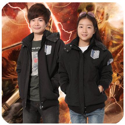 เสื้อแจ็คเก็ต Attack On Titan ผ่าพิภพไททัน(สีดำ)