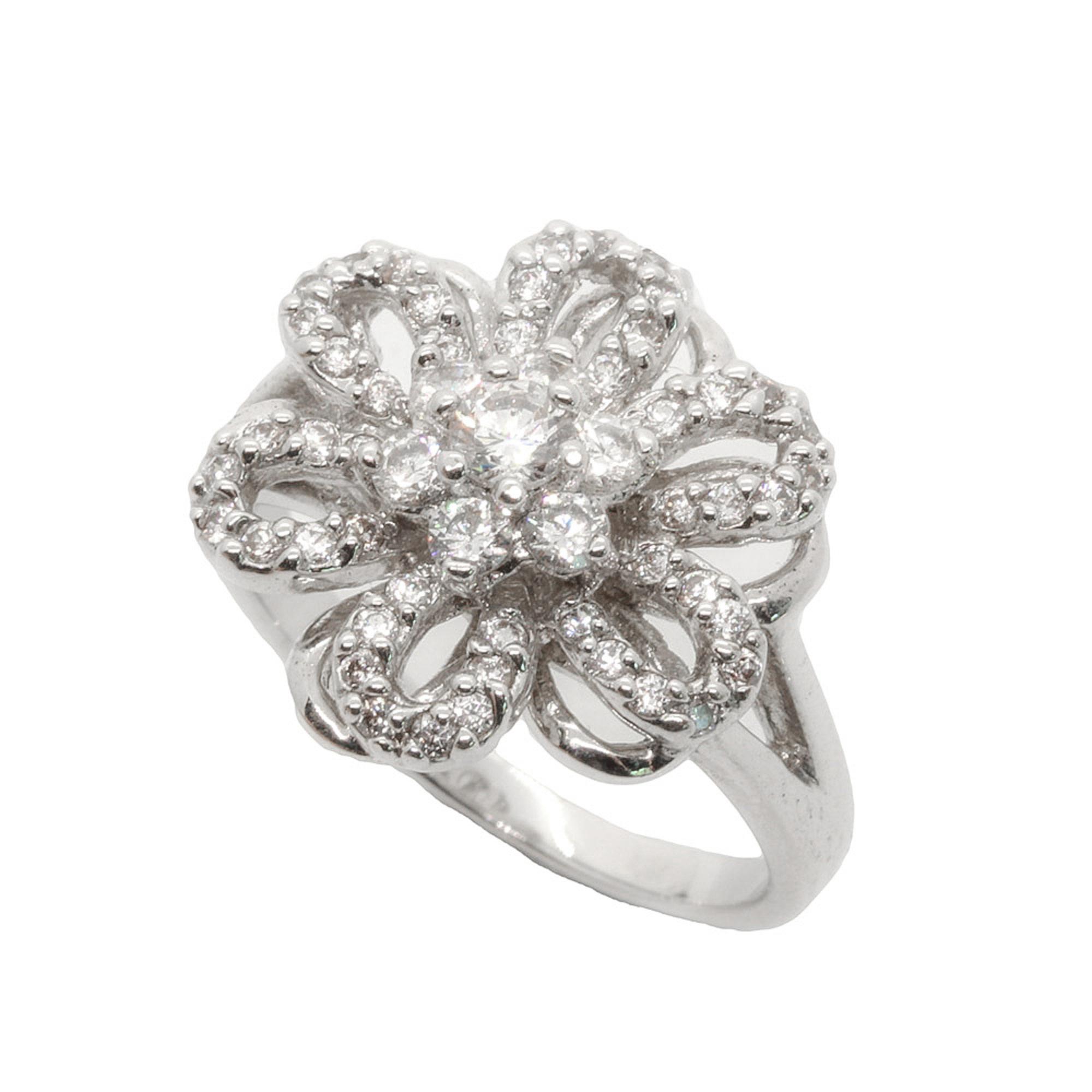 แหวนเพชรCZ สีม่วง หุ้มทองคำแท้ ไซส์ 55