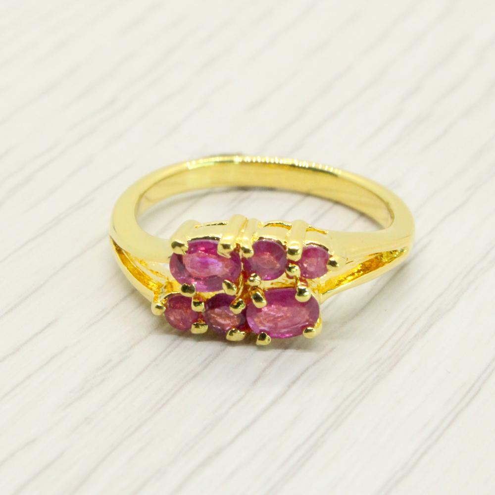 แหวนพลอยทับทิมแท้ หุ้มทองคำแท้ ไซส์ 51